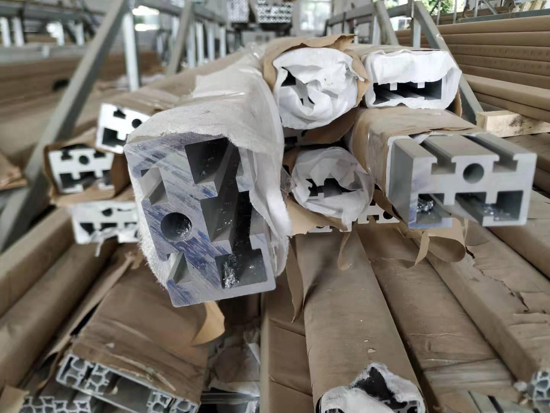 南京铝材厂可开模定制50*80工业铝型材导轨槽 6米长料加工