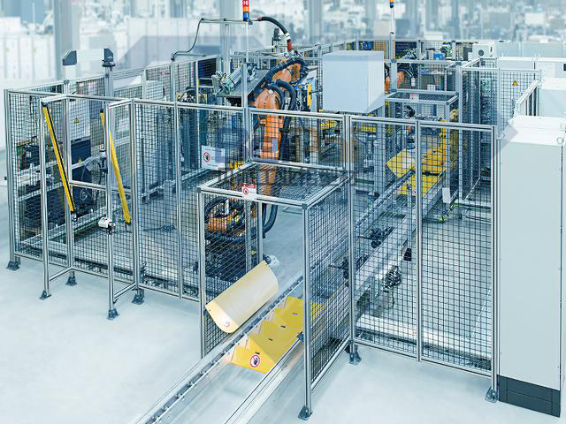 工业生产用机械手隔断/围栏定制